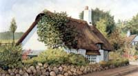 Thatched cottage in Leek Wootton, England