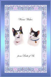 Cat paintings - pet portraits and cats greeting cards